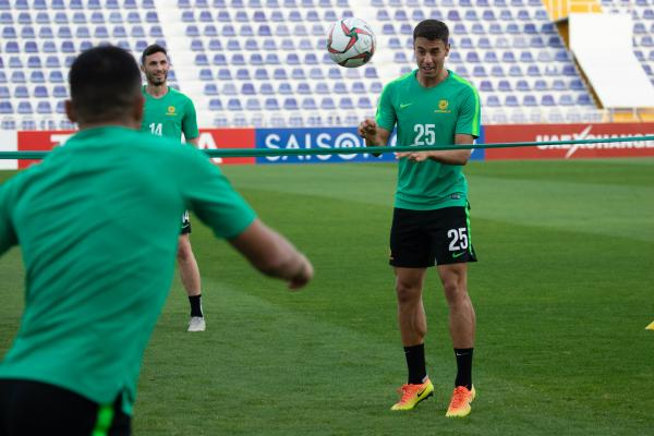 Socceroos train ahead of Syria clash
