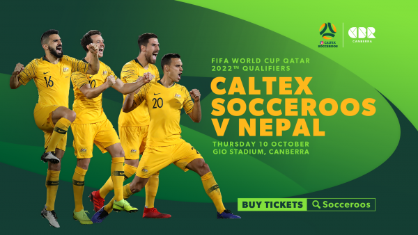 Tickets on sale to Football Family Caltex Socceroos v Nepal