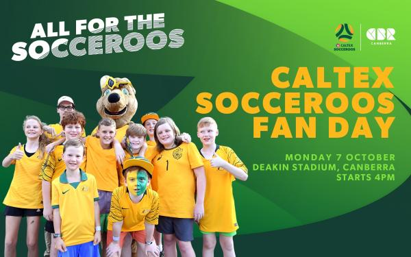 Make sure you're there for Caltex Socceroos fan day on Monday October 7