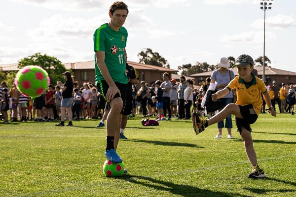 Caltex Socceroos training and fan dayv