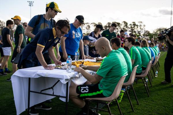 Caltex Socceroos training and fan day