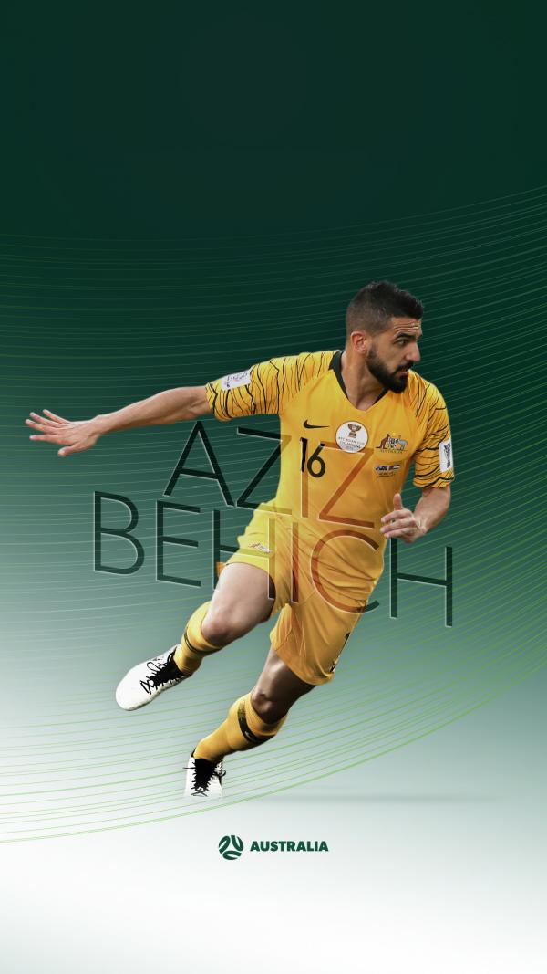 Socceroos Aziz Behich mobile wallpaper