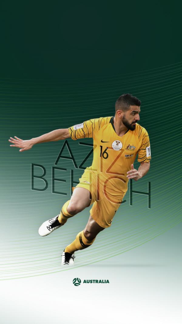 Socceroos Aziz Behich mobile wallpaper