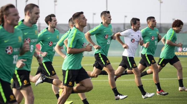 Andrew Clark; Socceroos training