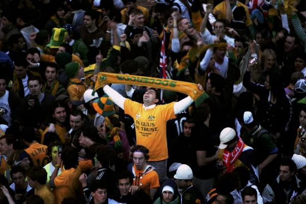 Socceroos fans in Sydney