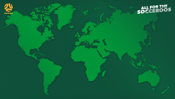 World Map Socceroos