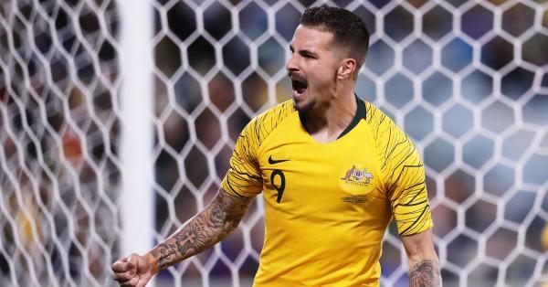 Jamie Maclaren Socceroos celebration