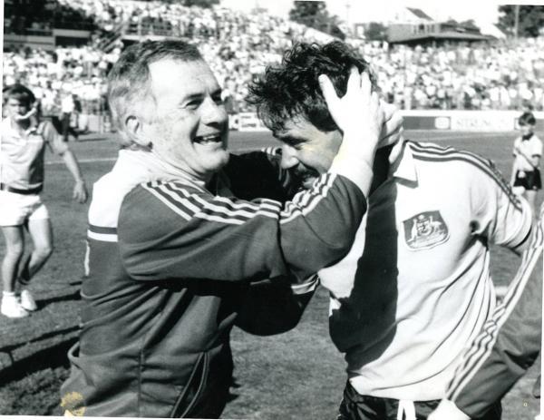 Frank Arok Socceroos B&W
