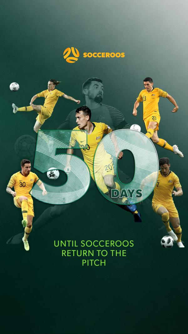 50 Days Until The Socceroos Return Wallpaper