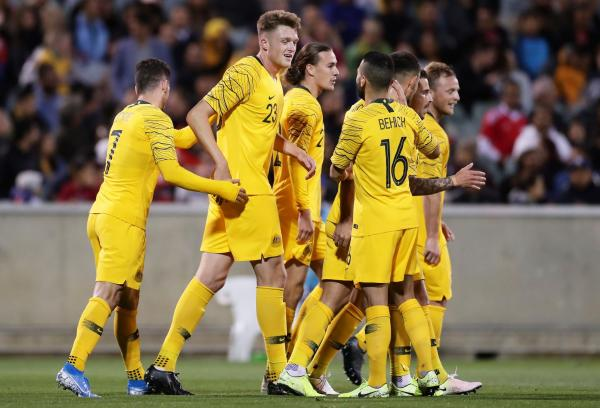 Socceroos celebration