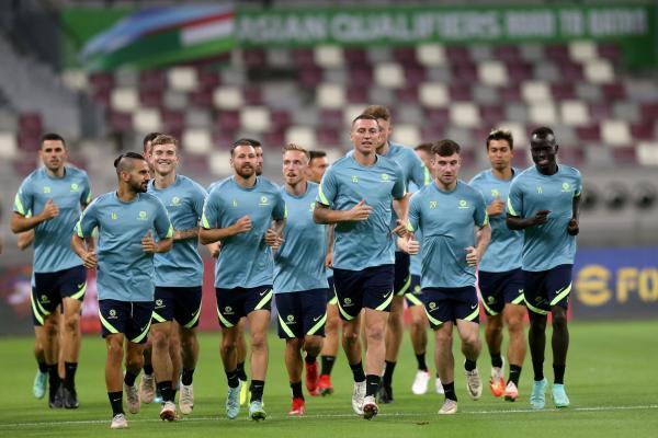 Socceroos training