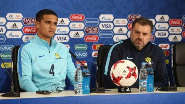 Ange Postecoglou has praised Tim Cahill ahead of his 100th Caltex Socceroos cap.