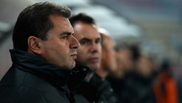 Socceroos coach Ange Postecoglou alongside assistant Ante Milicic.