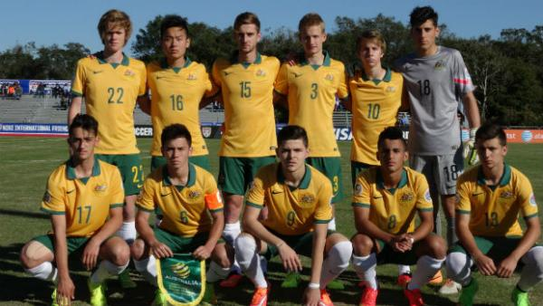 The Joeys starting XI that took on Brazil.