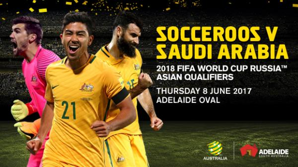 Caltex Socceroos to face Saudi Arabia at Adelaide Oval