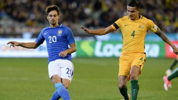 Tim Cahill played just under an hour in Australia's friendly loss to Brazil.