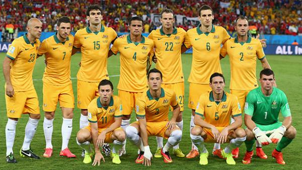 The Socceroos side which faced Chile at the FIFA World Cup.