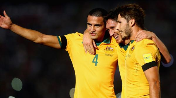 The captain was also quick to congratulate Milligan after the Socceroos went 1-0 up midway through the second-half.