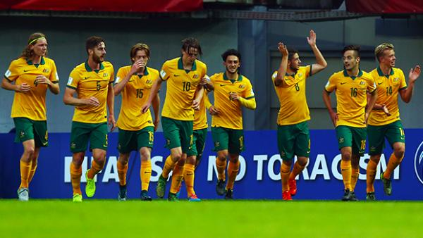 Joeys celebrate after defeating Argentina and sealing their place in the Round of 16