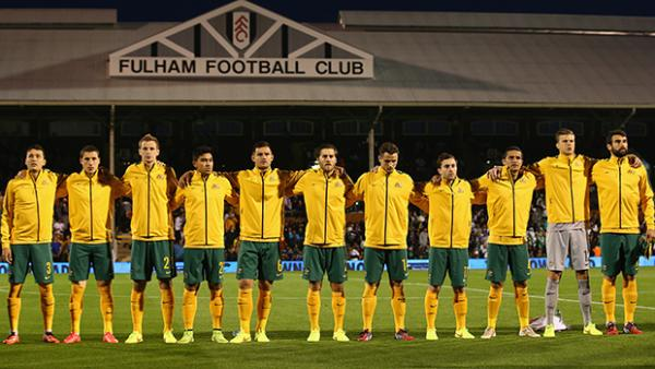 The Socceroos starting XI against Saudi Arabia at Craven Cottage.