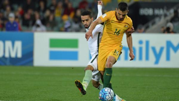 57608d016 Aziz Behich on the ball in Australia s 3-2 win over Saudi Arabia on Thursday