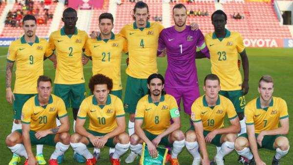 The Olyroos starting XI for their Group D match against Vietnam at the AFC U-23 Championship earlier this year.