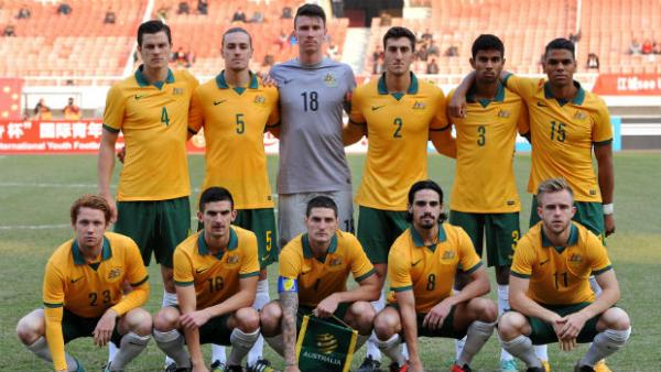 The Australian U-23 side during their recent tour of China.