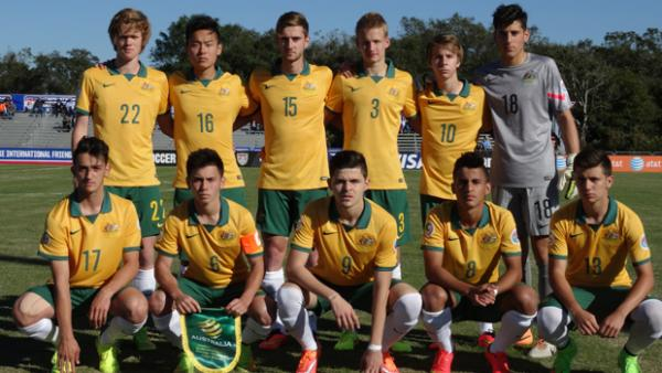 The Joeys pose for a team photo prior to their clash with Brazil.