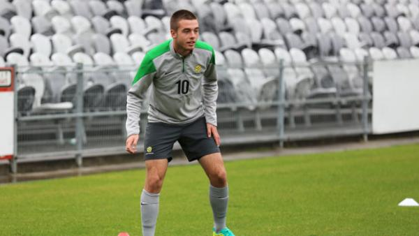 Young Socceroos midfielder Liam Rose.