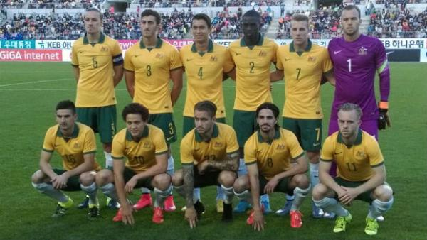 The Olyroos starting XI in their first friendly against Korea Republic.
