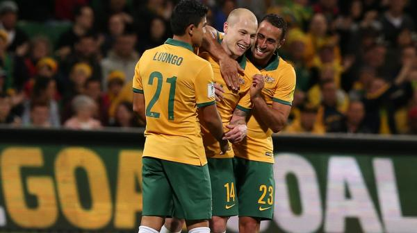 Mass Luongo and Aaron Mooy impressed in a new-look midfield for the Socceroos.