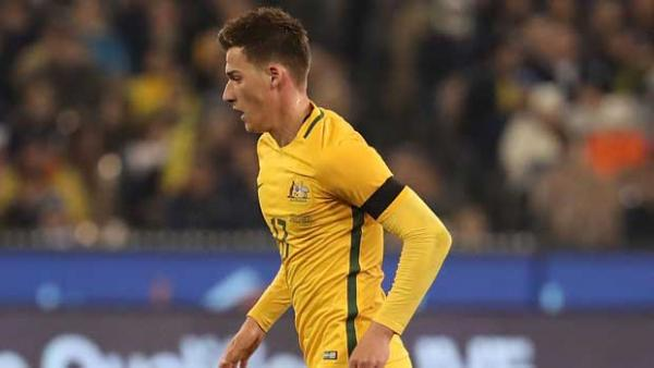 Caltex Socceroos Ajdin Hrustic was ecstatic after making his international debut in Tuesday night's loss to a sensational Brazil at the MCG.