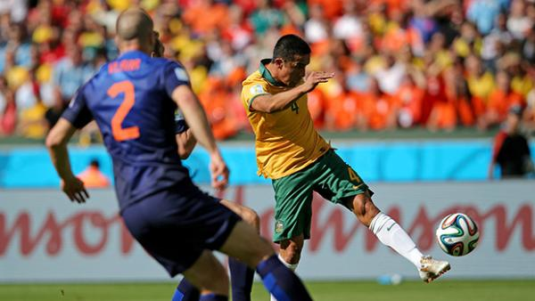 Tim Cahill's moment of magic against the Netherlands at the World Cup.