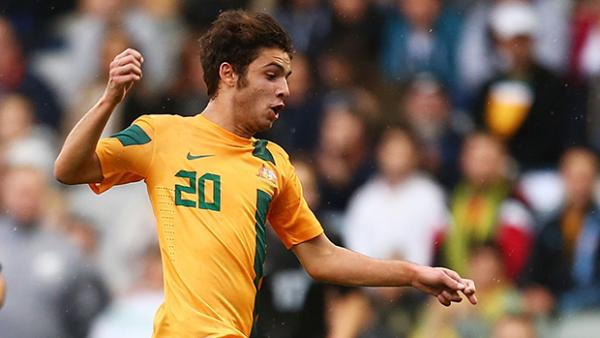 Daniel de Silva in action for the Young Socceroos.