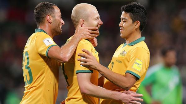 Aaron Mooy made it 5-0 in the second half with a thumping strike in the 61st minute.