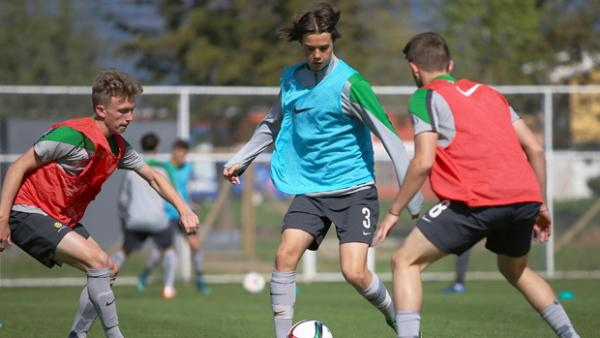 Former Joey and current Brisbane Roar defender Aaron Reardon has been selected as part of the Young Socceroos squad.