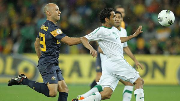 Mark Bresciano in action against Saudi Arabia in 2012.