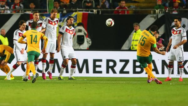 Mile Jedinak's milestone free-kick against Germany.