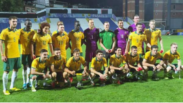 The Olyroos after their recent friendly win over Turkey.