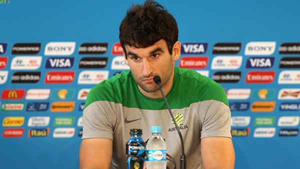 Jedinak says the Socceroos aren't focussing on the farcical pitch situation in Curitiba.