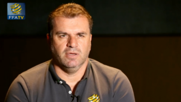 Socceroos coach Ange Postecoglou speaking exclusively to FFA TV.