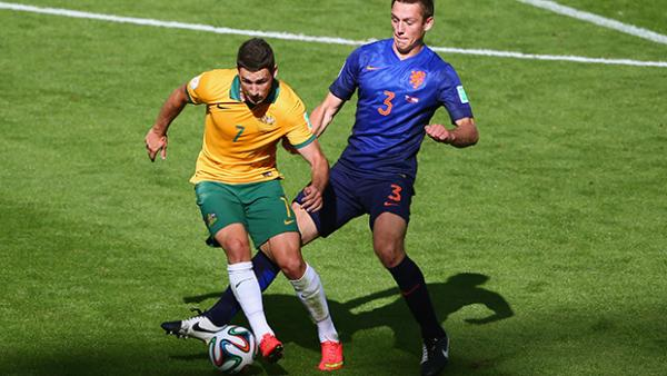 Mathew Leckie was outstanding for the Socceroos in their 3-2 loss to the Netherlands.