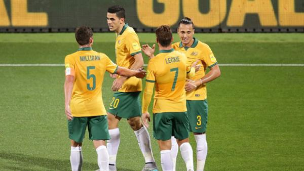 The Socceroos cruised to a 5-0 win over Bangladesh in Perth.