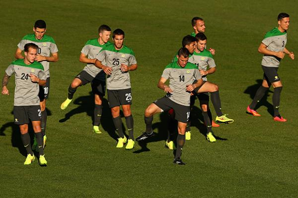 28a17682d Day 2 at Socceroos  boot camp for Brazil