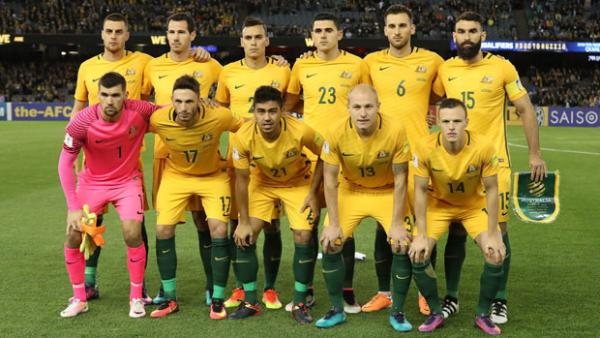 The Caltex Socceroos starting XI against Japan in Melbourne.