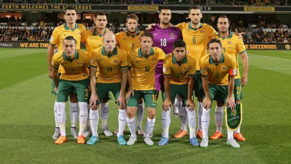 The Socceroos starting XI against Bangladesh in Perth.