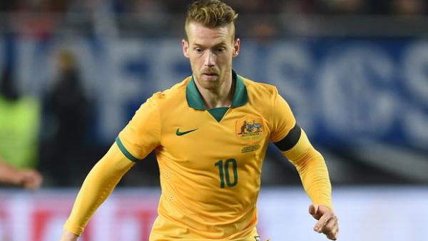 Oliver Bozanic in the Socceroos' match against FYR Macedonia in Skopje.