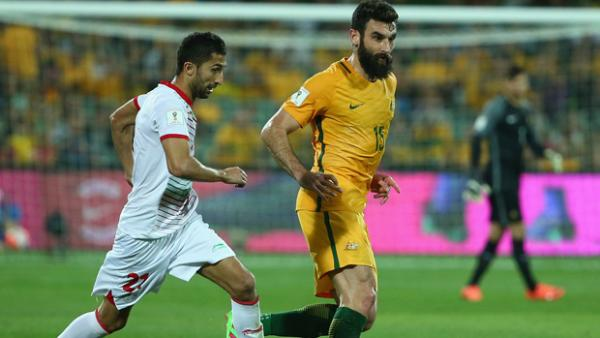 Mile Jedinak is in doubt for Tuesday's clash with Jordan.