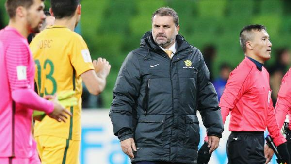 Ange Postecoglou looks on following Australia's 2-1 win over Thailand.