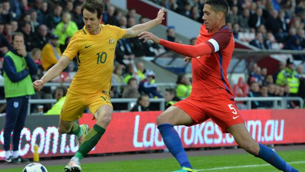 Robbie Kruse was bright for the Socceroos against England.
